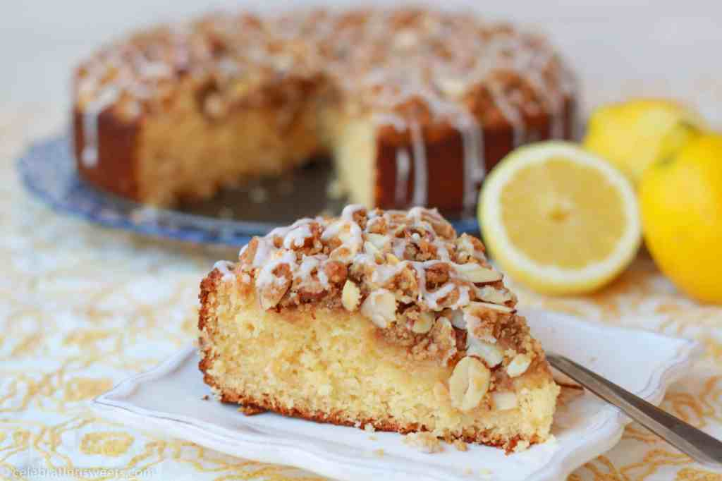 Lemon Almond Coffee Cake from celebratingsweets.com