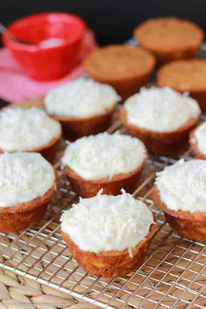 Light Carrot Cake Cupcakes from celebratingsweets.com