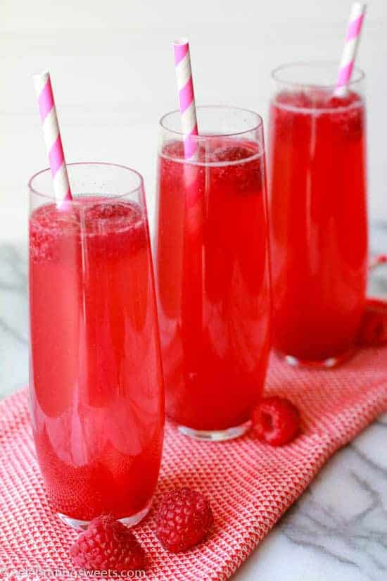 Raspberry Vanilla Soda - Celebrating Sweets