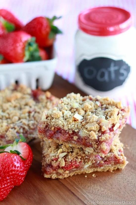 Whole Grain Strawberry Breakfast Bars