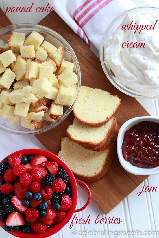 Berries and Cream Trifle - A beautiful, and easy 4th of July dessert