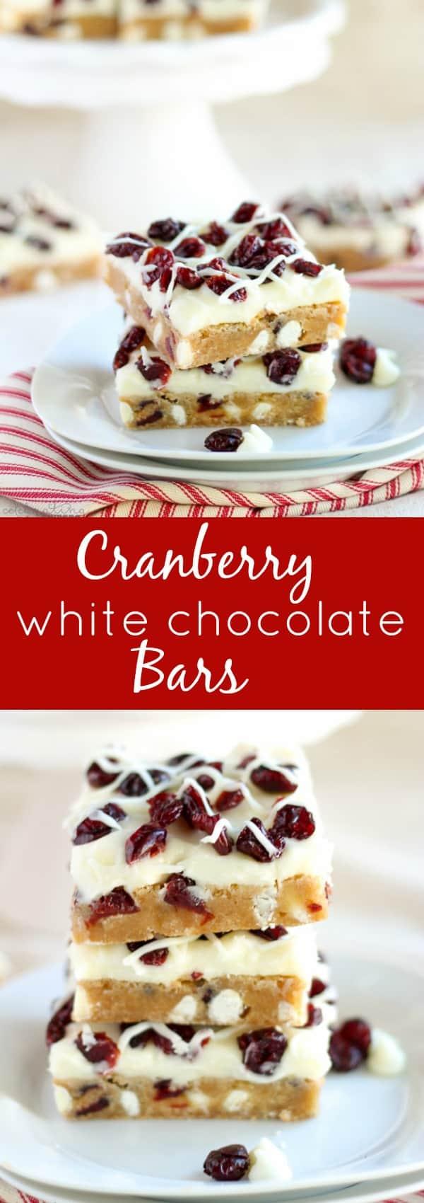 Cranberry White Chocolate Bars (Copycat Starbucks Cranberry Bliss ...