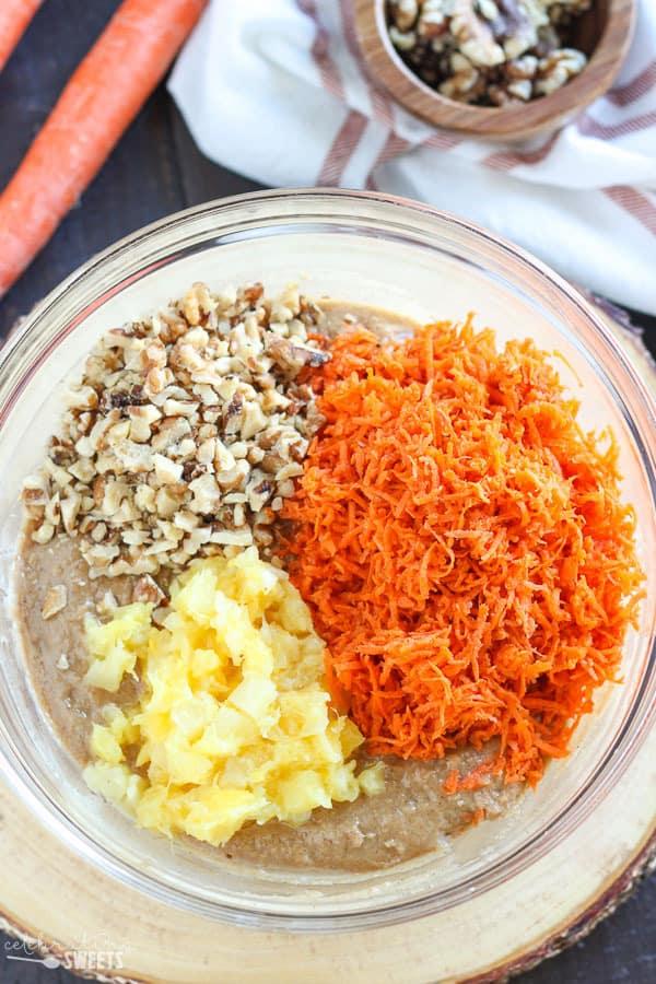 Honey sweetened carrot cake recipe