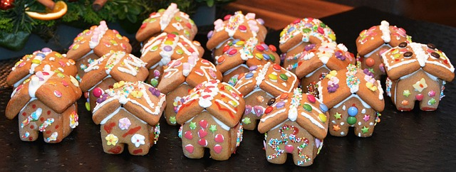 Kids can decorate their own mini gingerbread houses at the party and take them home with them.
