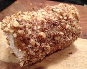 Pecan Crusted Goat Cheese Log - serve as a holiday appetizer with crackers, or slice up and serve on top of a green salad.