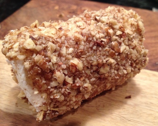 Pecan Crusted Goat Cheese Logs - serve as a holiday appetizer with crackers, or slice up and serve on top of a green salad.