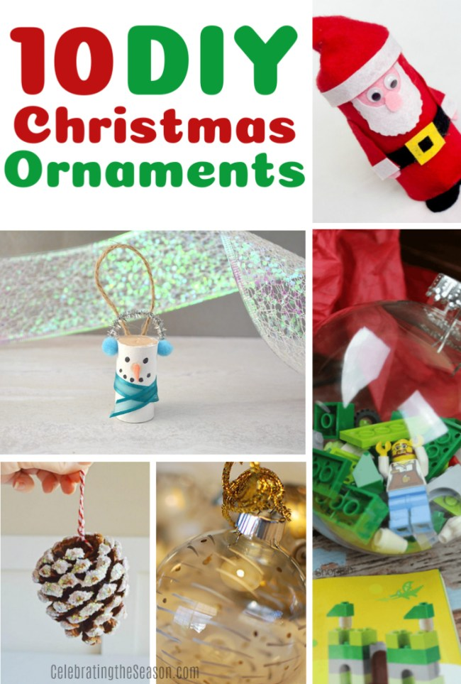 10 Cute and Fun DIY Christmas Ornaments - Celebrating the Season #christmas #DIY #christmasornaments