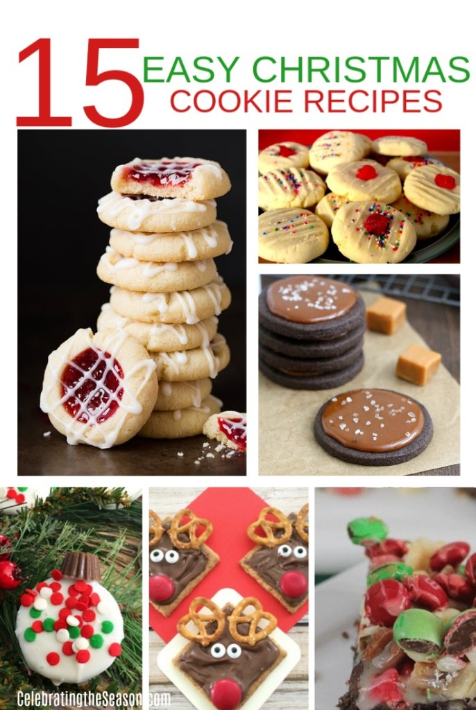 15 Easy Christmas Cookie Recipes | Celebrating the Season