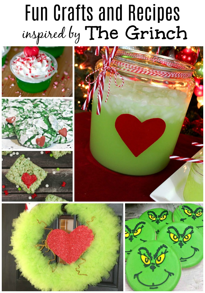 Fun Crafts and Recipes Inspired by The Grinch