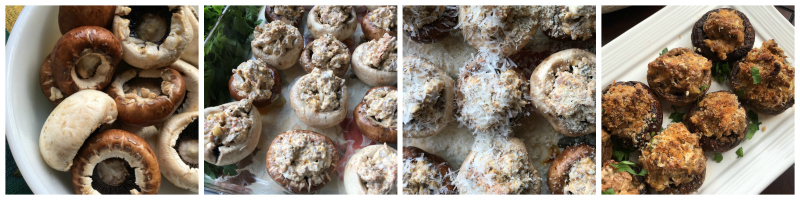Recipe for Mushrooms Stuffed with Cream Cheese and Sausage