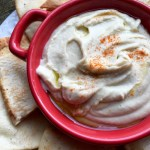 Healthy Appetizer: White Bean Dip with Seasoned Pita Chips