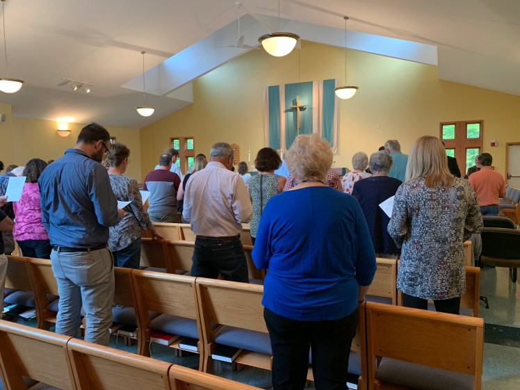 people worshiping in our sanctuary