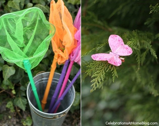 butterfly hunt activity - kids garden party