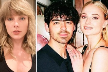 Sophie Turner, Joe Jonas, y Taylor Swift