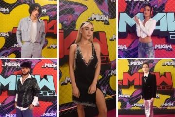 Así llegaron Danna Paola, Joel Pimentel, Tini y más a la Pink Carpet de los MTV MIAW 2021.