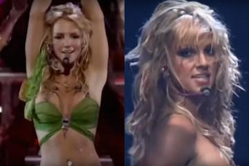 """Britney Spears, 20 años de su presentación de """"I'm a slave 4 u"""" en los VMAs."""