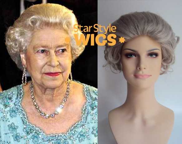 Queen Elizabeth Costume Wig