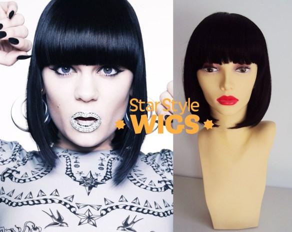 Jessie J Black Bob Wig