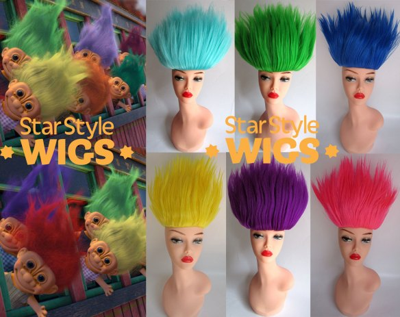 Troll Doll Costume Wig