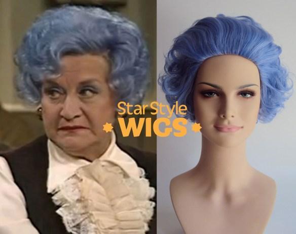 Blue Rinse Granny Costume Wig