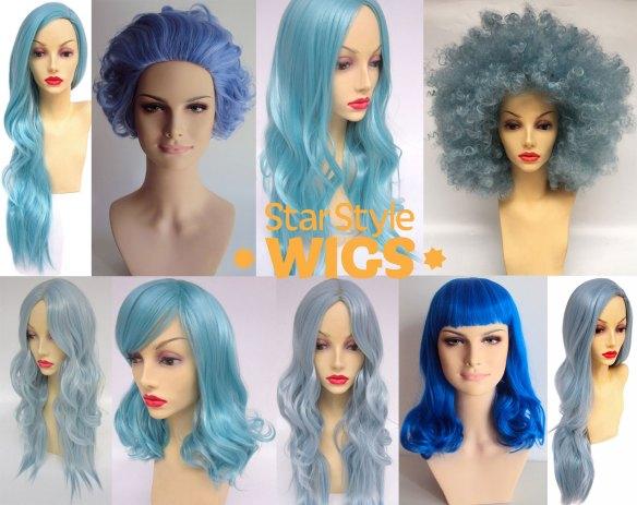 Blue Hair Wigs