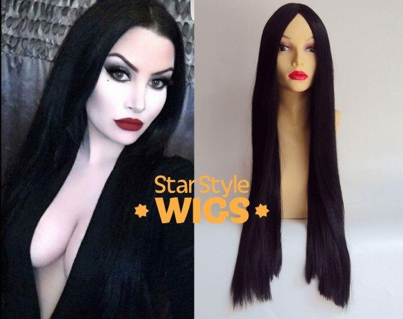 Morticia Addams Costume Wig