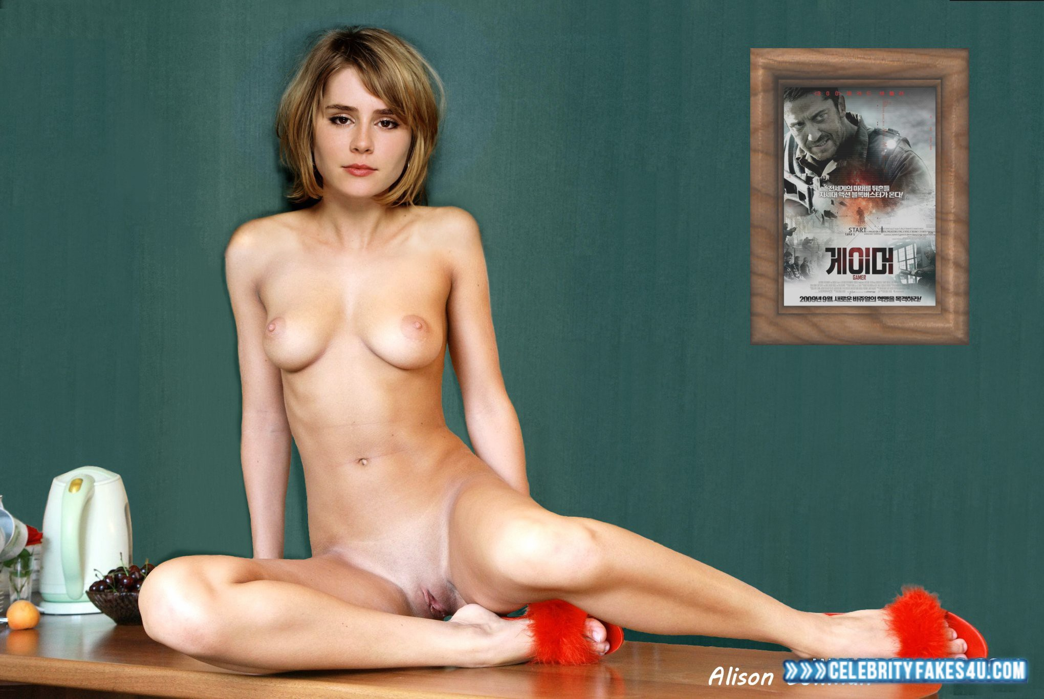 With the alison lohman naked thumbnails crab position