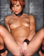 Allison Scagliotti Collar Fingers Pussy Nsfw Fake 001