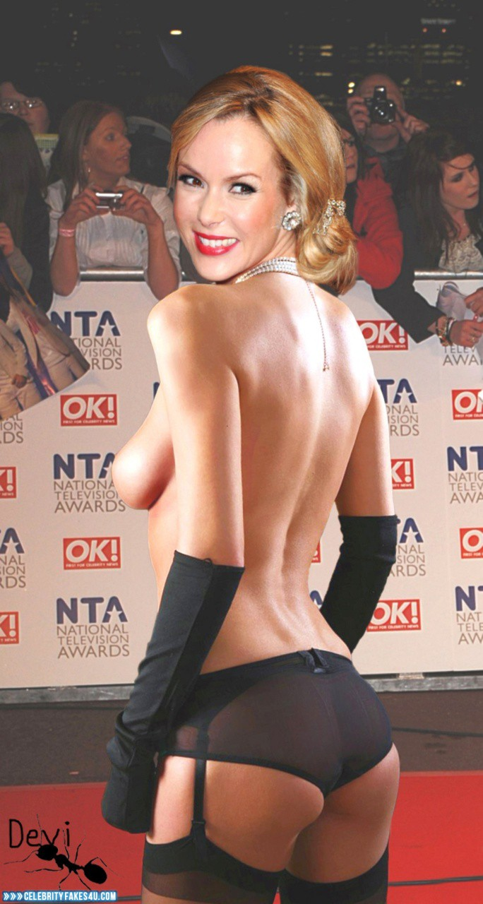 Amanda Holden Tits amanda holden sideboob panties naked fake 001 « celebrity