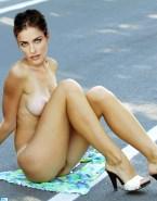 Amanda Peet Great Tits Public 001