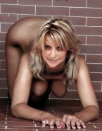 Amanda Tapping Horny Exposed Breasts 001