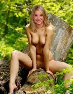 Amber Benson Squeezing Tits Outdoor Nude Fake 001
