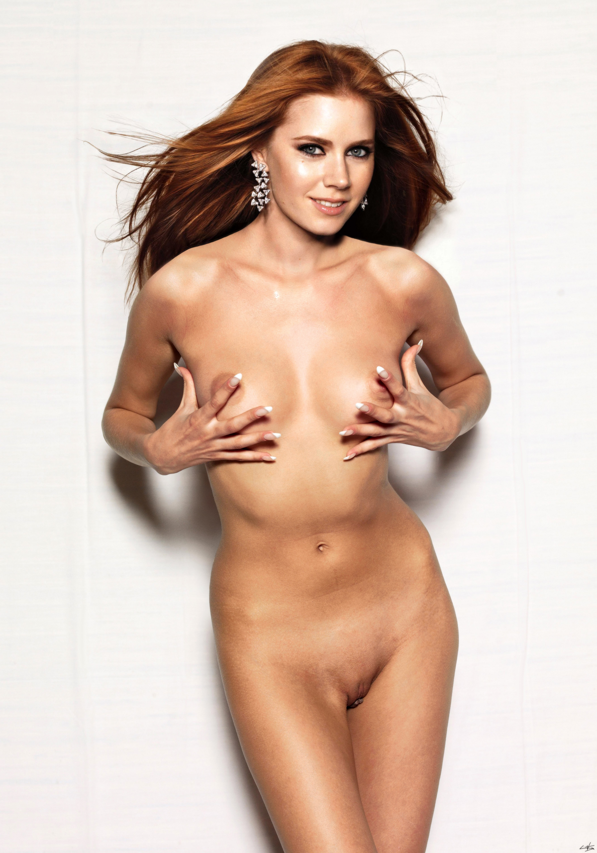 Amy Adams Nipples amy adams fully nude & rubbing her hard nipples fake