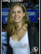 Amy Adams Nipples See-Through Shirt Oops Fake