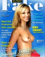 Amy Smart Boobs Magazine Cover 001