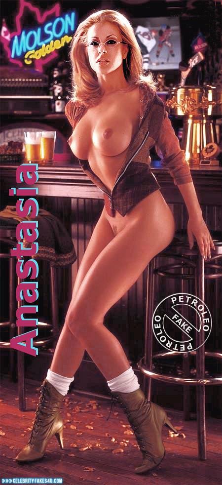 Anastacia Fake, Big Tits, Blonde, Glasses, Heels, Legs, Nude, Tits, Porn