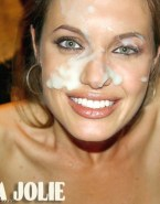 Angelina Jolie Cumshot Facial Naked 001