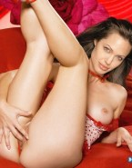 Angelina Jolie Fingers Pussy Panties Aside Naked 001