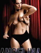 Angelina Jolie Horny Topless 002