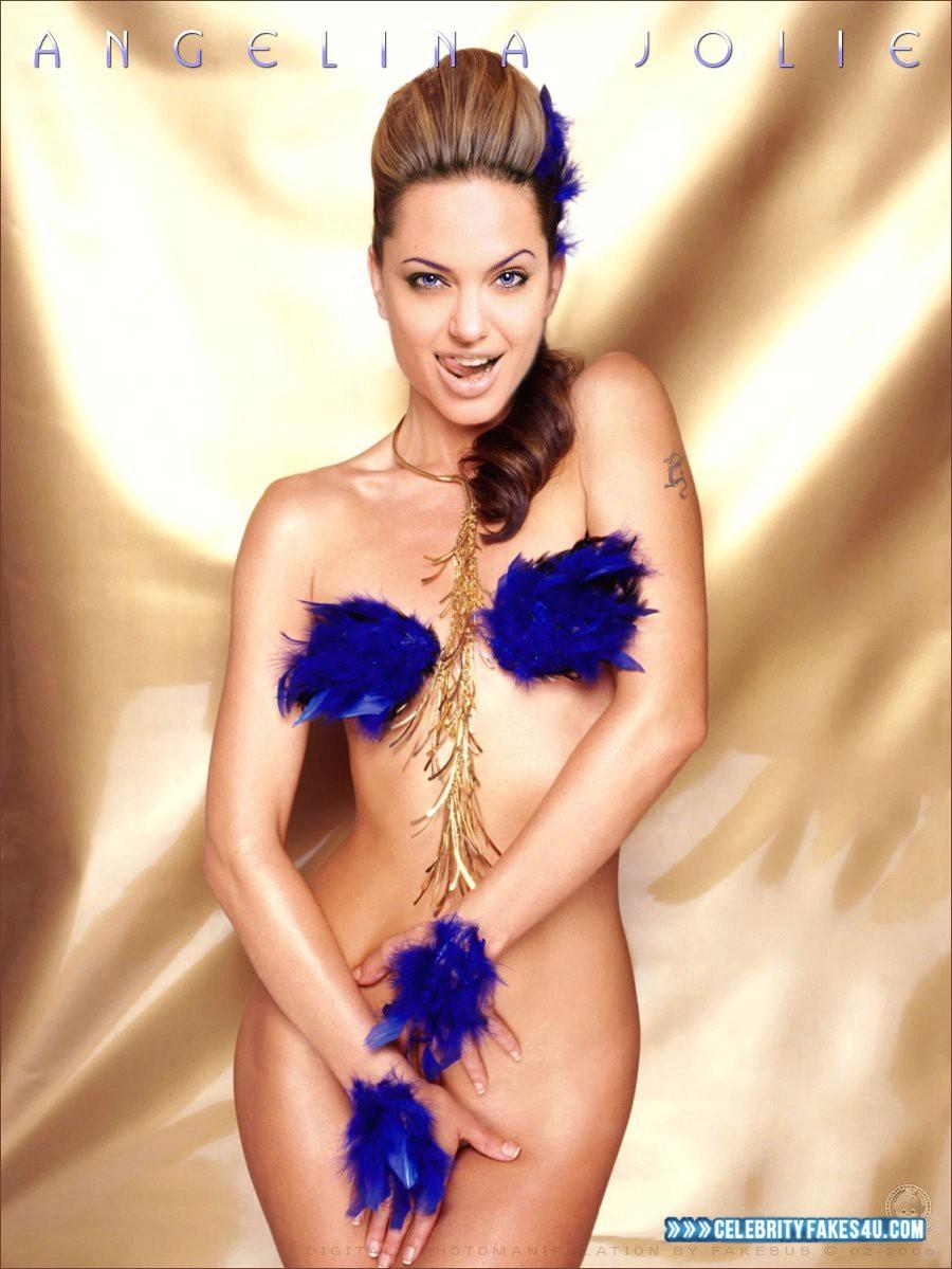 Angelina Jolie Fake, Horny, Naked Body, Nude, Porn