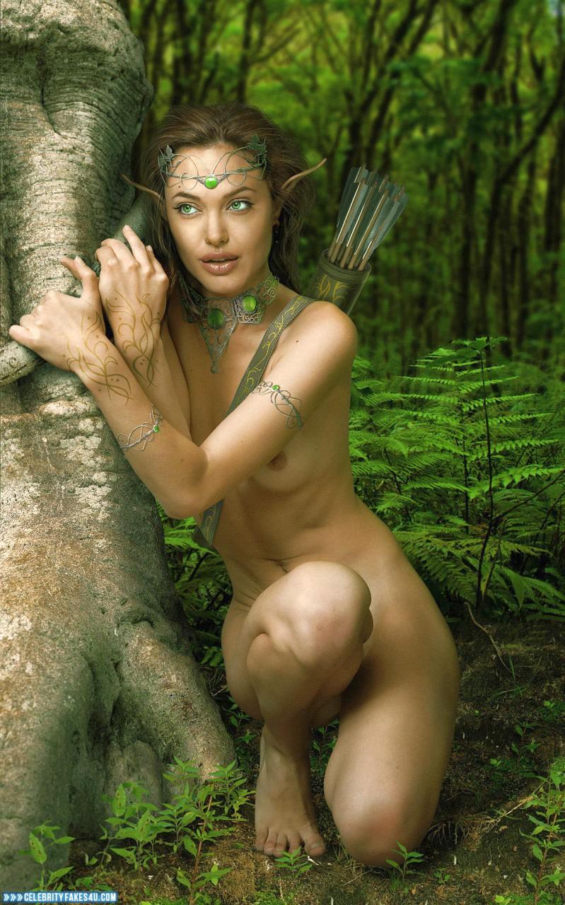 Angelina Jolienude angelina jolie nudes outdoors 001 « celebrity fakes 4u
