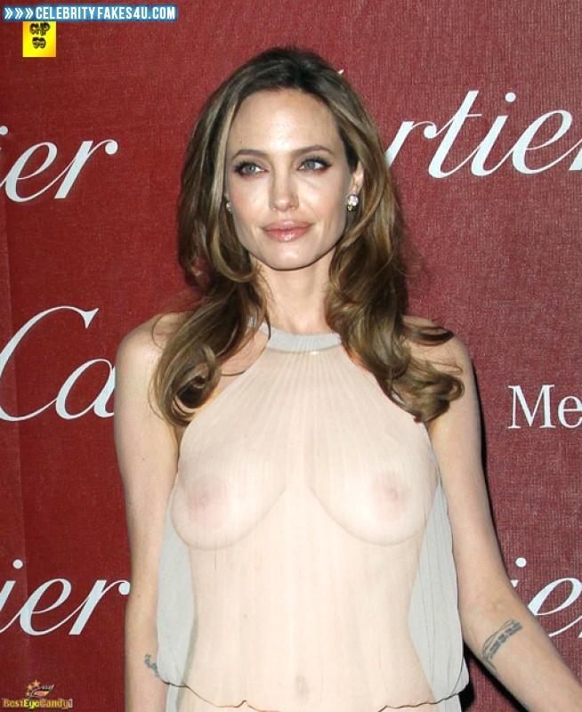 Angelina Jolie Fake, Nude, Public, See-Thru, Tits, Porn
