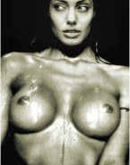 Angelina Jolie Wet Breasts Nude 001