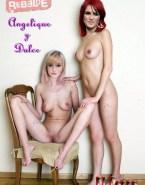 Angelique Boyer Lesbian Exposing Vagina Naked Fake 001
