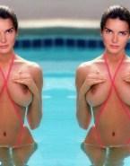 Angie Harmon Big Tits Pool Porn Fake 001