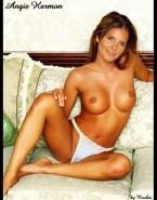 Angie Harmon Lingerie Tits Fake 001
