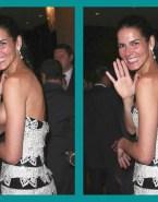 Angie Harmon Nipple Slip Public Fake 001