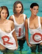 Angie Harmon Pool Wet Nude Fake 001