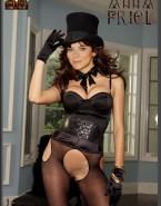 Anna Friel Hot Outfit Pantiless Naked 001