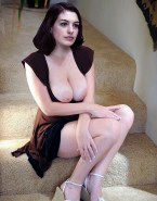 Anne Hathaway Busty Squeezing Tits 001